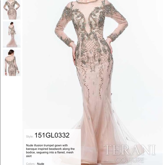 1af2c200ae242 Terani Couture Long Sleeve Gown. M_5bd8adc4baebf6972dc28e36